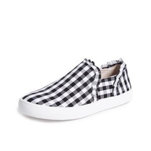 KATE SPADE Black & White Gingham Lilly Sneakers 10